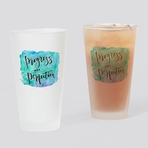 Progress not Perfection Drinking Glass