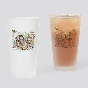 Hand drawn colored musical instrume Drinking Glass