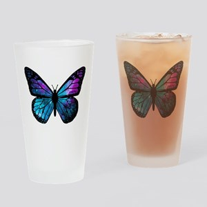 Galactic Butterfly Drinking Glass