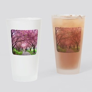 Cherry Blossom Stroll Drinking Glass