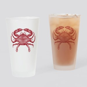 Vintage Crab Drinking Glass