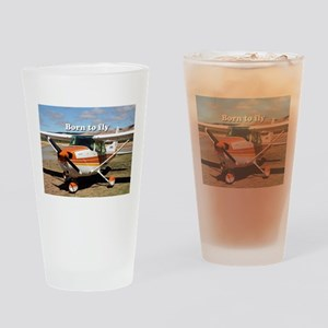 Born to fly: high wing aircraft Drinking Glass