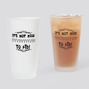 Cardiac V-Fib Humor Drinking Glass