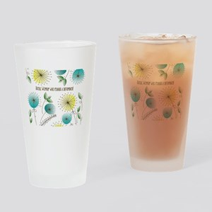 Social Worker Floral Art Drinking Glass