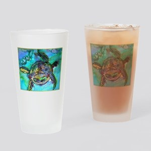 Sea Turtle, colorful, Pint Glass