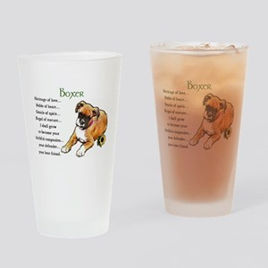 Boxer Puppy Drinking Glass