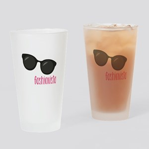 Fashionista Drinking Glass