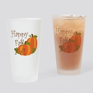 Happy Fall Y'all Drinking Glass