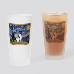 Starry Night Fox Terrier (#1) Drinking Glass