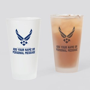 PERSONALIZED U.S. Air Force Logo Drinking Glass