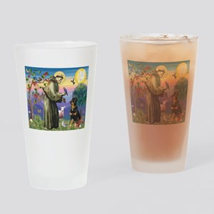 St Francis / Rottweiler Drinking Glass