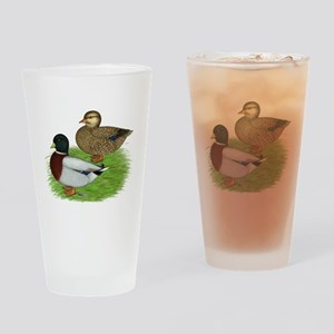 Grey Call Ducks Drinking Glass