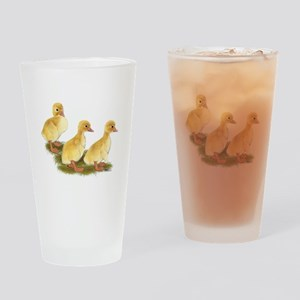 Yellow Ducklings Drinking Glass
