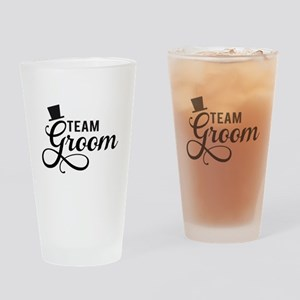 Team Groom with hat Drinking Glass
