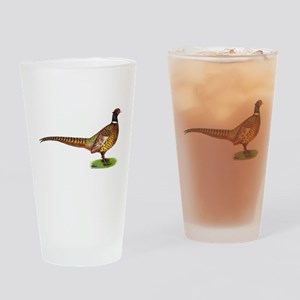 Proud Ringneck Pheasant Drinking Glass