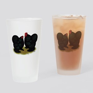 Cochins Black Bantams Drinking Glass