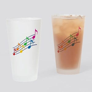 Rainbow Music Notes Drinking Glass