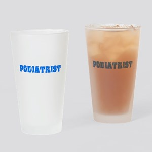 Podiatrist Blue Bold Design Drinking Glass