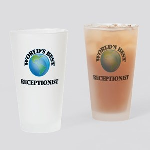 World's Best Receptionist Drinking Glass