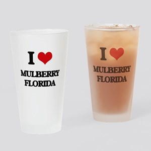 I love Mulberry Florida Drinking Glass