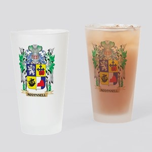Mcconnell Coat of Arms - Family Cre Drinking Glass