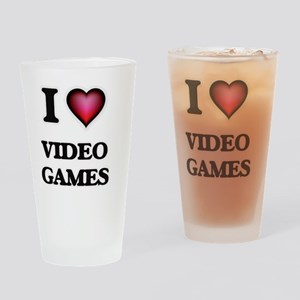 I love Video Games Drinking Glass