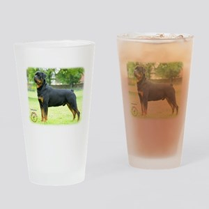 Rottweiler 8T039D-0 Drinking Glass