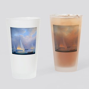 Vintage Sailboat Drinking Glass