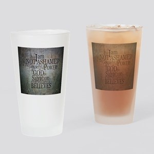 ROMANS 1:16 Not Ashamed Drinking Glass