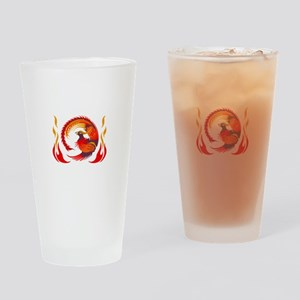 PHOENIX RISING FROM FLAMES Drinking Glass
