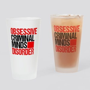 Criminal Minds Obsessed Drinking Glass