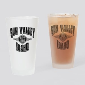 Sun Valley Black & Silver Drinking Glass