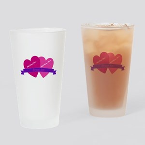 Forever Love Heart Names Drinking Glass