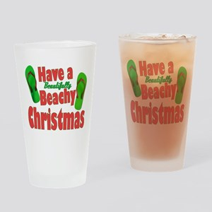 Flip Flop Christmas Drinking Glass