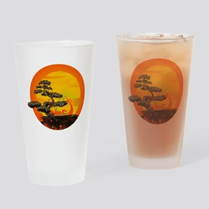Sunset Bonsai Drinking Glass