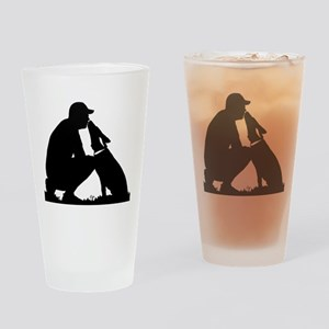 German Shepherd Kiss Drinking Glass