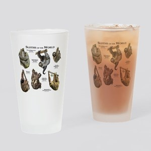 Sloths of the World Drinking Glass