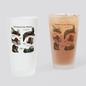 Otters of the World Drinking Glass
