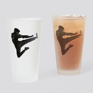 Karate Kick Drinking Glass