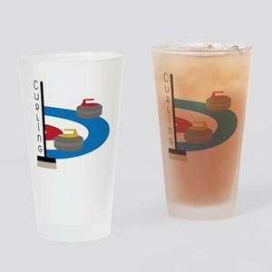 Curling Field Drinking Glass