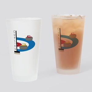 Curling Sport Drinking Glass