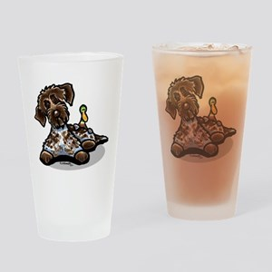 Funny Pointing Griffon Pint Glass