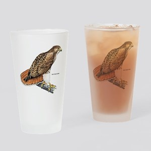 Red-Tailed Hawk Bird Drinking Glass