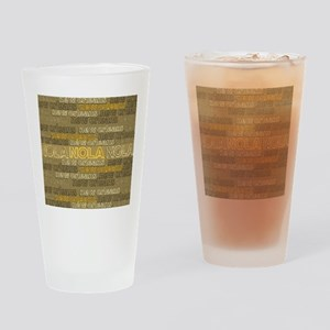NOLA Gold Bronze Design Drinking Glass