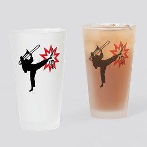 Music Karate Kick Shattering Treble Clef Drinking
