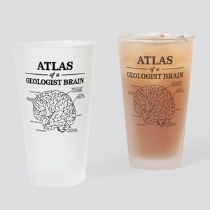Atlas of a Geologist Brain Drinking Glass