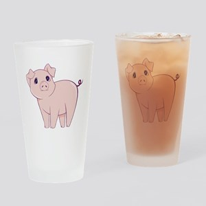 Cute little piggy Drinking Glass