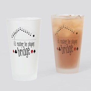 Playing Bridge Drinking Glass