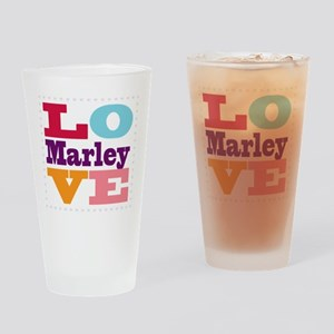 I Love Marley Drinking Glass