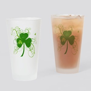 St Paddys Day Fancy Shamrock Drinking Glass